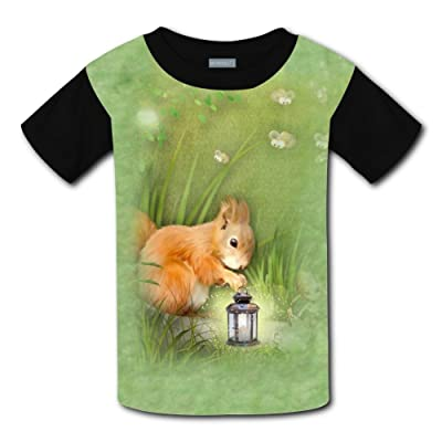 Squirrel and Fireflies Light Weight Tee Shirts 2017 The Latest Version for Boysfree Postage