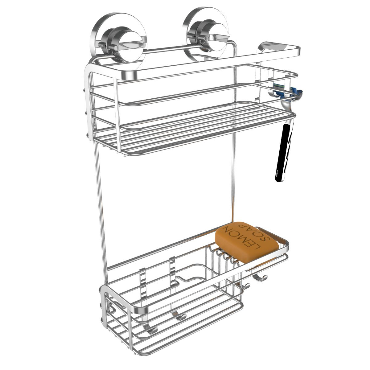 Amazon.com: Vidan Home Solutions Shower Caddy | Strong Suction Cup ...