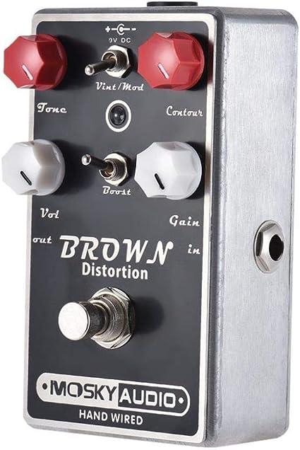 Guitarra eléctrica Pedal de efecto Distorsión Guitarra Pedal de ...