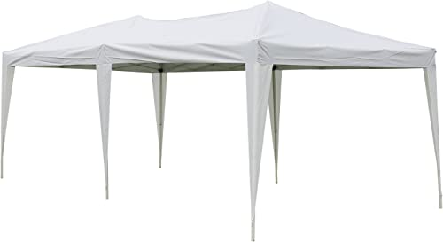 Kinbor 10 x 20 Ft Pop Up Gazebo Canopy Tent,Heavy Duty Outdoor Portable Patio Shelter, White
