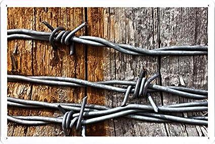 Amazon.com: World HOPE Art - Barb Wire Tin Sign Unique Wall Decor ...