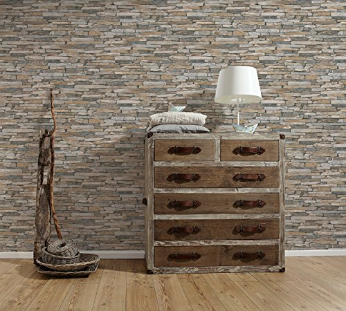A.S. Creation 9142-17 Wood and Stone Natural Wallpaper by A.S. Création (Image #5)