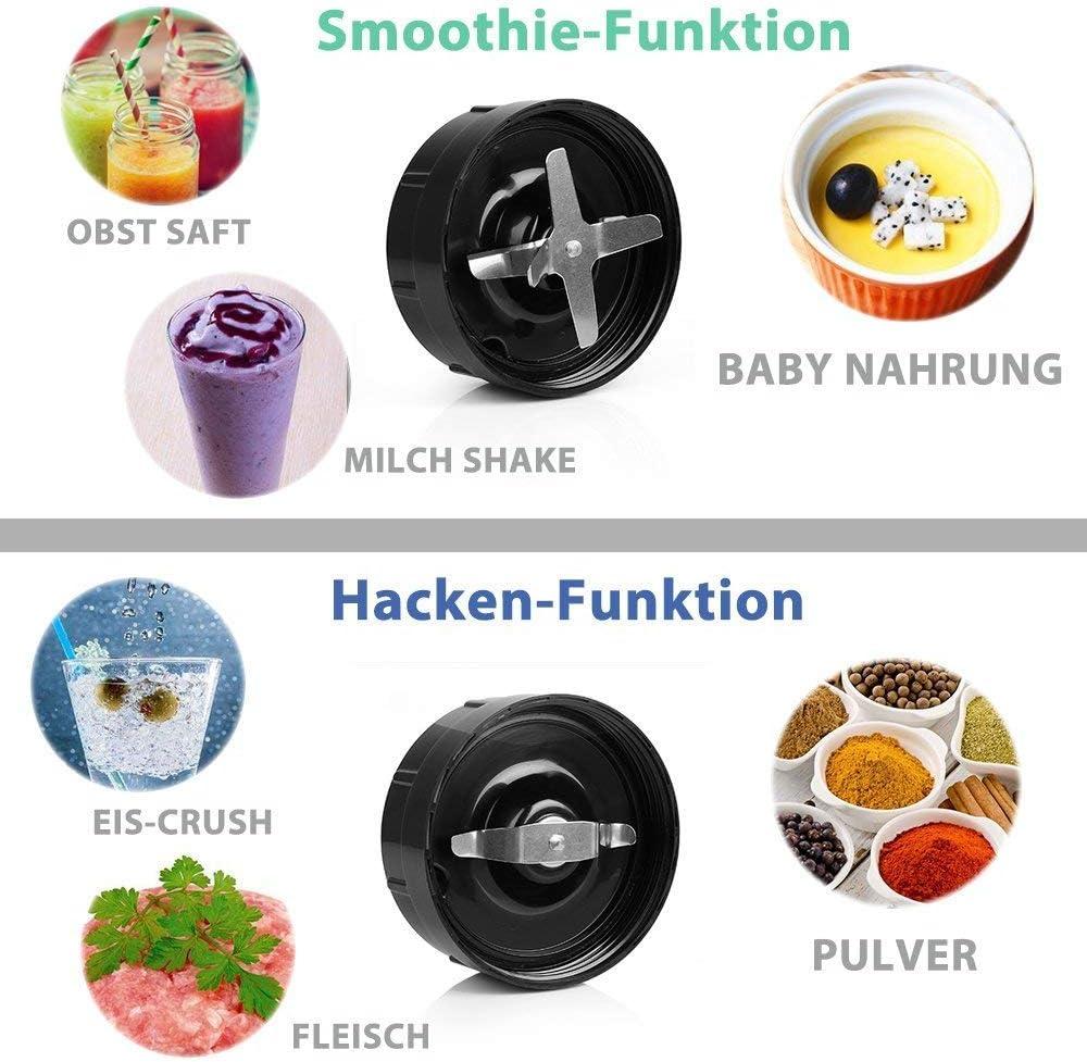 BESTEK Mix Go Standmixer 1000 Watt Smoothie Marker Hochleistung Edelstahl Ice