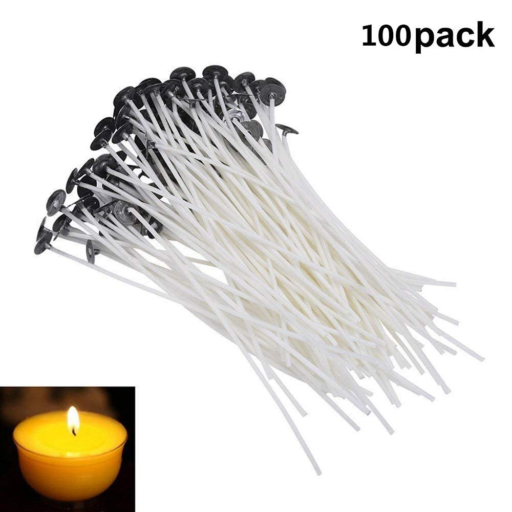 Xeminor Stockton 100 x Natural Candle Wick Low Smoke for DIY Candle Making 3.14inches