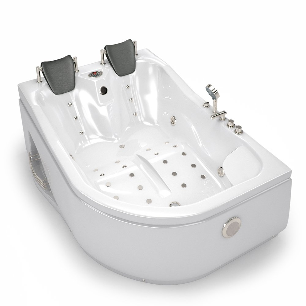 Whirlpool corner bath tub 2 person corner spa bath Jacuzzi left ...