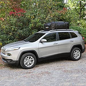 Rightline Gear 100A21 Ace 2 Car Top Carrier RR, 15 cubic feet, Attaches With Roof Rack