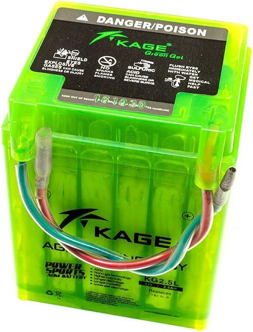 Batterie GEL Kage Green yb2.5l-b pour HONDA CG 125 mtx 50 mtx 80 YAMAHA SG 50 SG