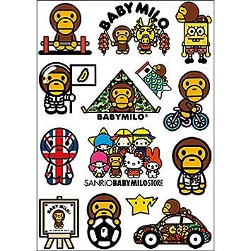 Amazoncom Bape Babymilo Spongebob Logo Skateboard Vinyl Sticker - Spongebob decals for cars
