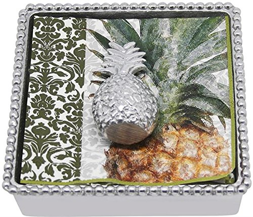 Mariposa Pineapple Bamboo Napkin Box Mariposa Cocktail Napkin Holder