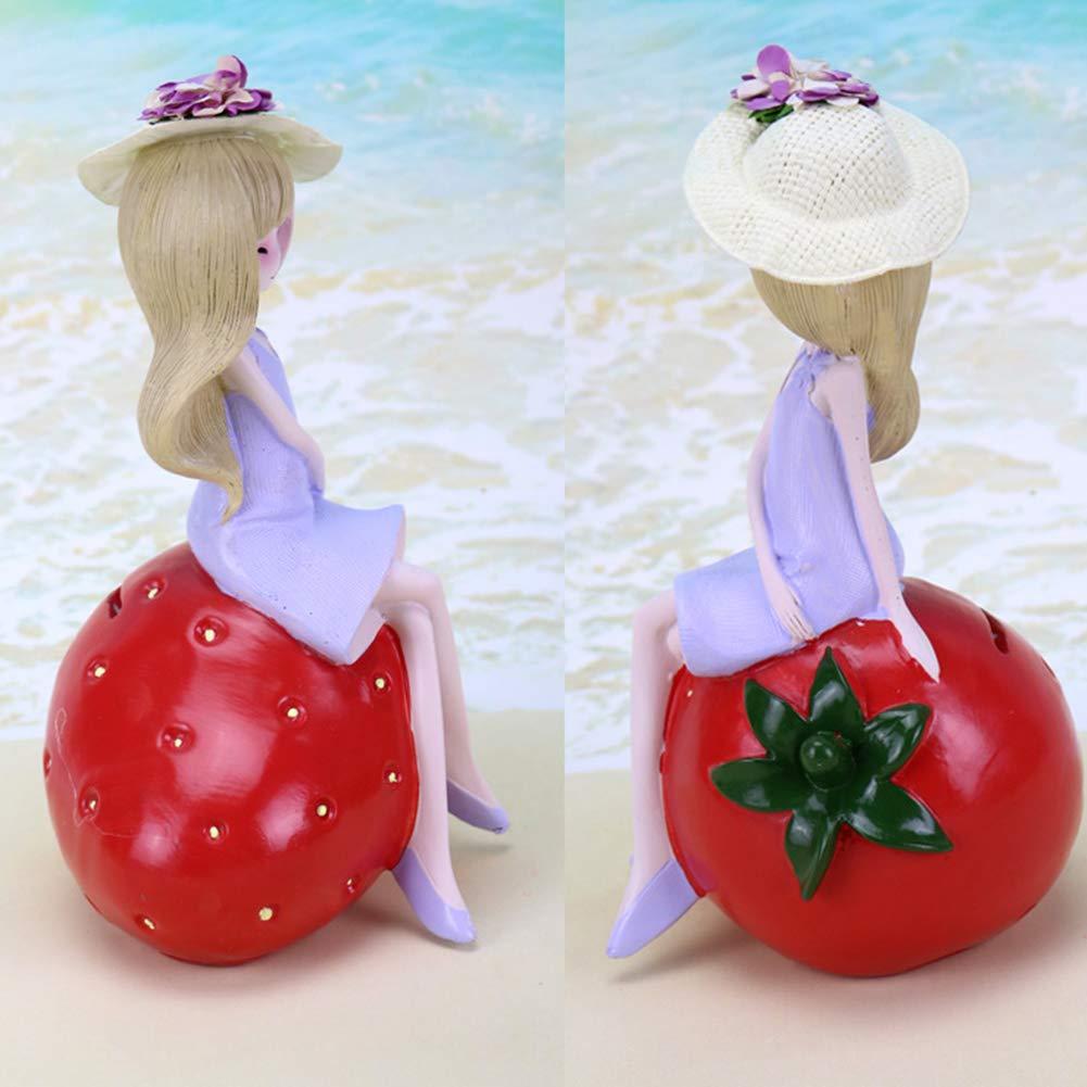 Yililay Cartoon Fille Figurine Tirelire Mignon Doll R/ésine Tirelire Saving Pot D/écoration de Table