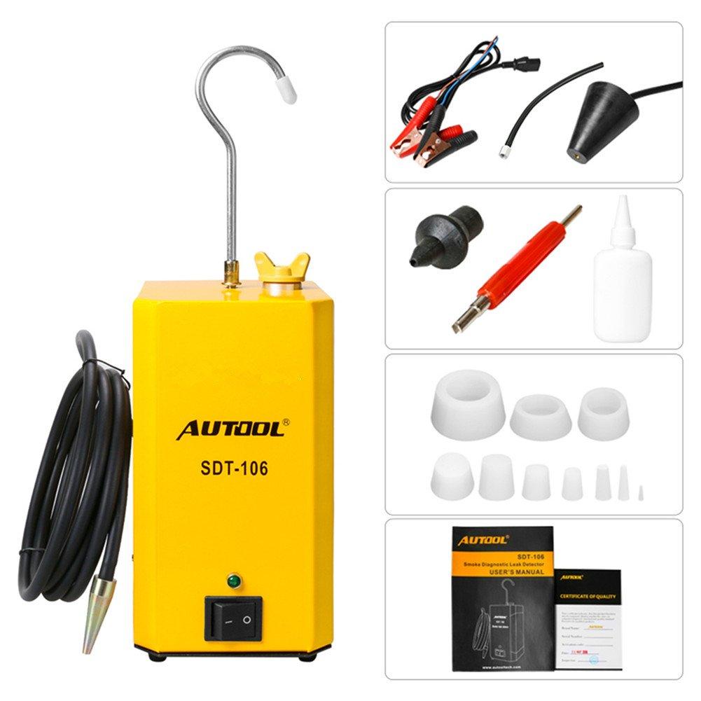 OUERKEJI Automotive Pipe Systems Fuel Leak Diagnostic Tester Tool Car Fuel Leak Detector Test Support EVAP for Car SUV MPV Pickup(12V)