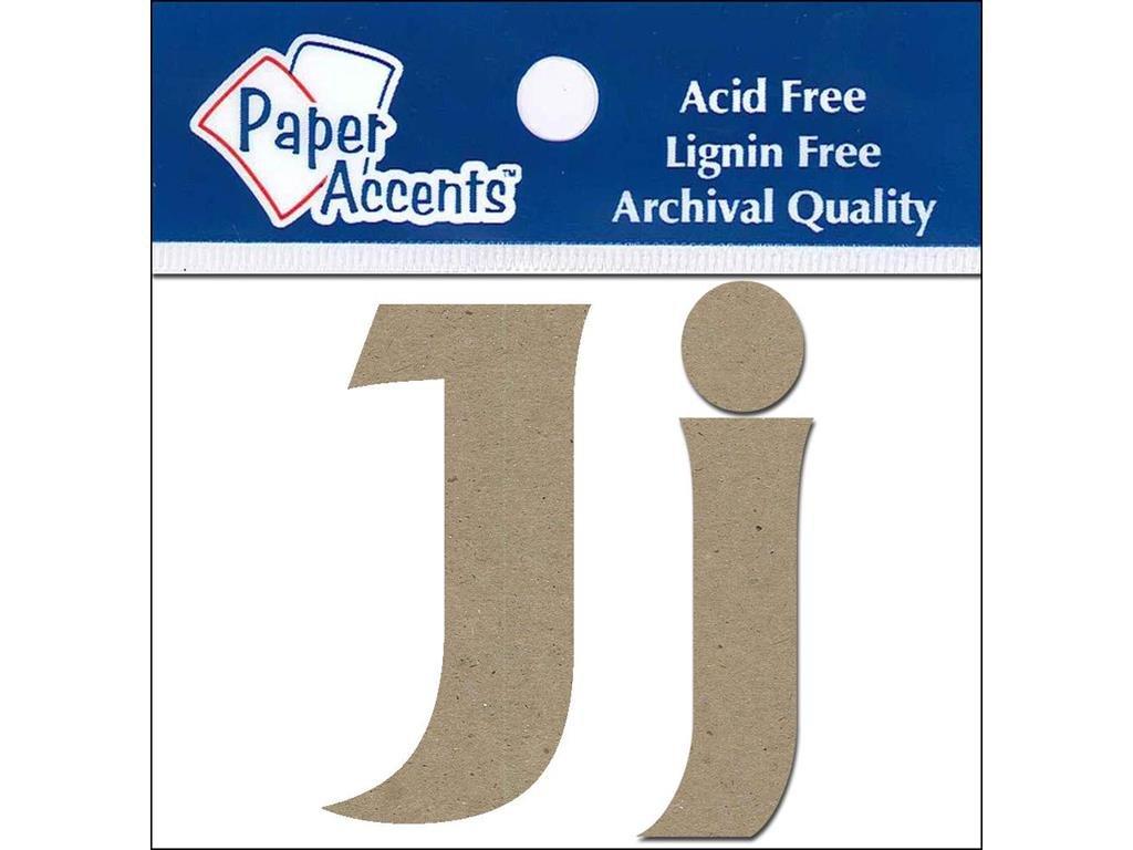 Accent Design Paper Accents Chip Letters 2pc Natural ChipLet 2 Jj NAT