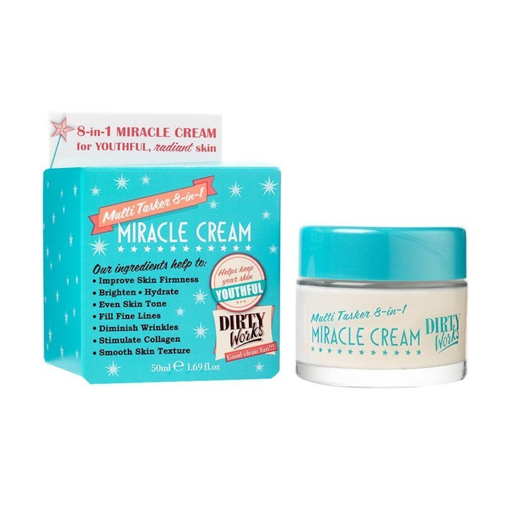 Dirty Works Miracle Cream Multi-tasker 8-in-1 Face & Neck Cream 1.69 Fl Oz