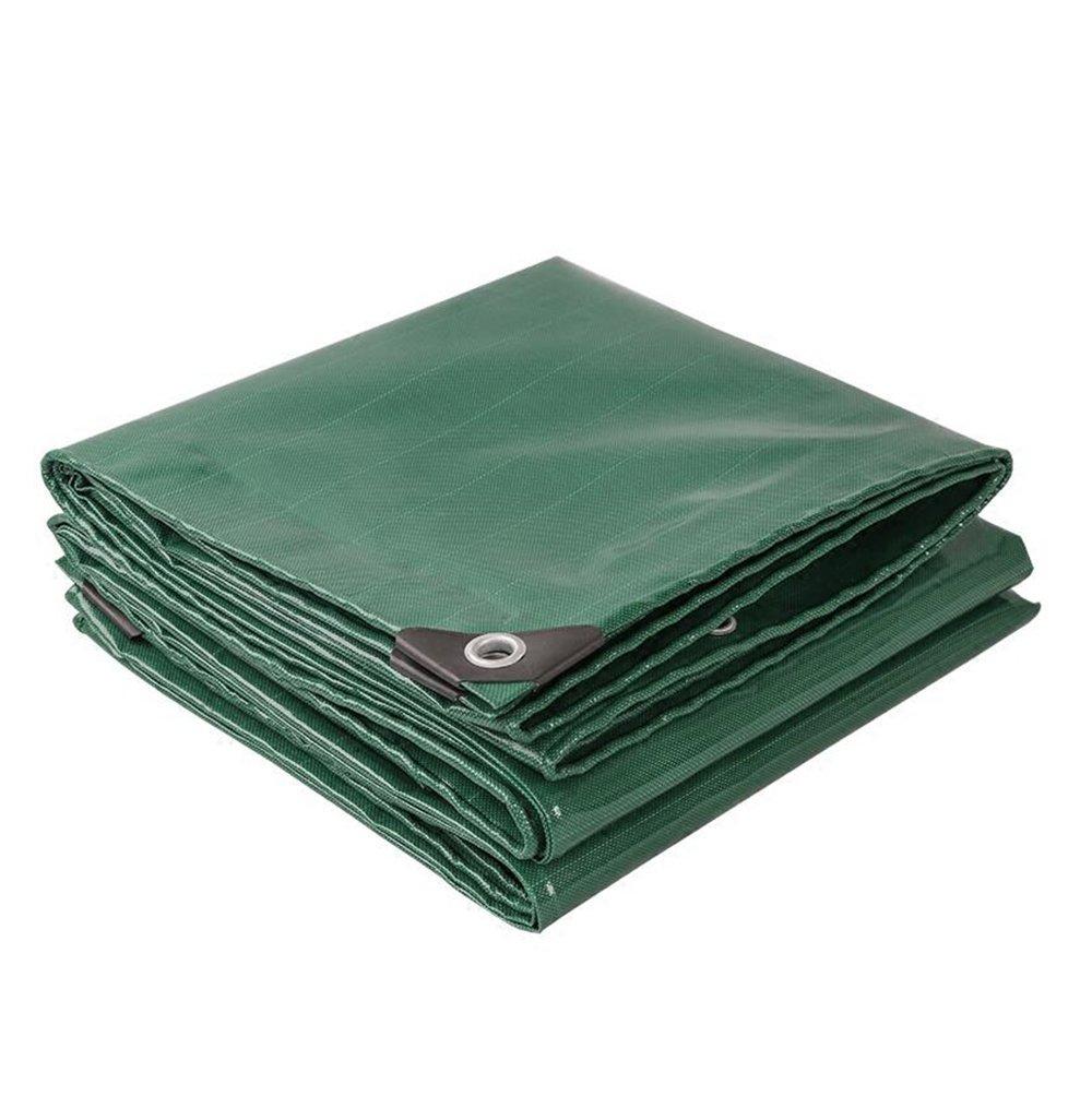 緑0.45ミリメートル厚いターポリン/キャンバス防水日焼け止めナイフスクレーパー/耐引裂性のプルタプアリン/トラックの雨天ターポリン/520グラム/m2、利用可能な様々なサイズ (色 : 緑, サイズ さいず : 4*7m) B07CRXVL33 4*7m|緑 緑 4*7m