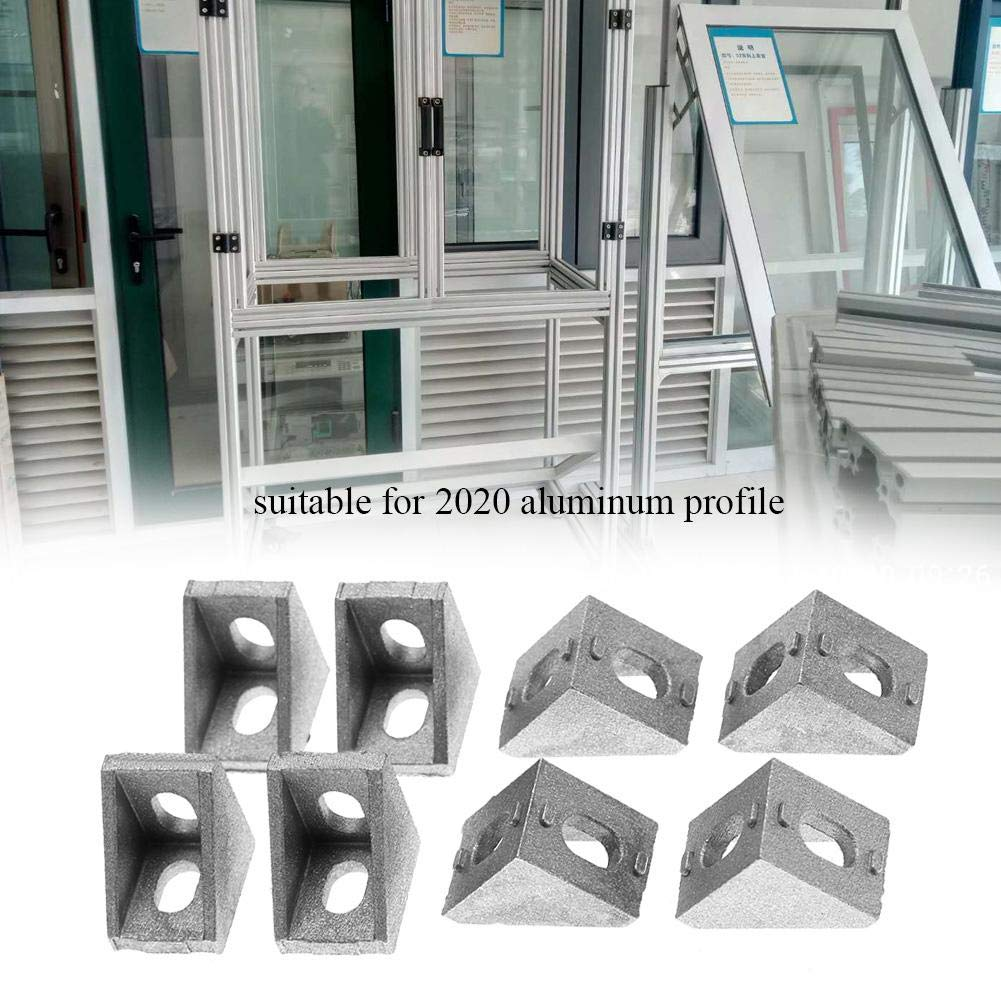 Akozon Eckwinkel 25pcs 2020 Aluminium L Form Eckwinkel rechtwinklig Klammer Verschluss