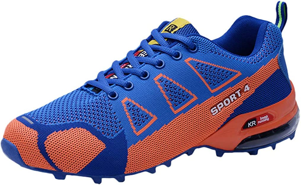 JiaMeng Zapatillas Running para Hombre Aire Libre y Deporte Transpirables Casual Zapatillas de Alpinismo Zapatillas Ligeras Transpirables con Cordones: Amazon.es: Zapatos y complementos