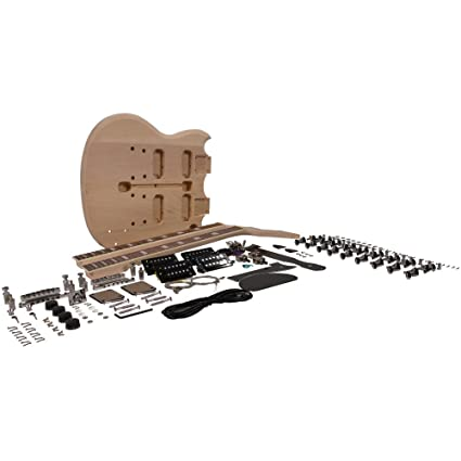 amazon com premium double neck style diy electric guitar kit 1206Mx Controller Wiring Diagram at Model Sadiyg 06 Wiring Diagram