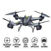 LBLA Drone Caméra FPV 2.4Ghz Quadcopter avec Lumière LED Télécommande Jouet Hélicoptère RC 3D VR pour Débutants et Enfants Cadeaux de Noël