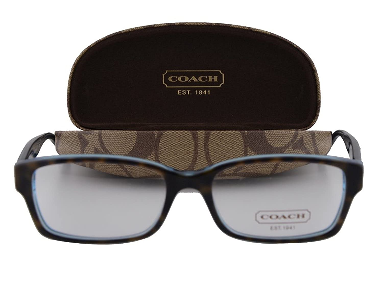 057bdec9407 Coach HC6040 Brooklyn Eyeglasses 52-16-135 Dark Tortoise Teal 5116   Amazon.ca  Clothing   Accessories