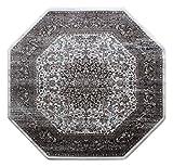 Masada Rugs Oriental Vintage Distressed Area Rug Rafael Collection (4 Feet X 4 Feet Octagon) For Sale