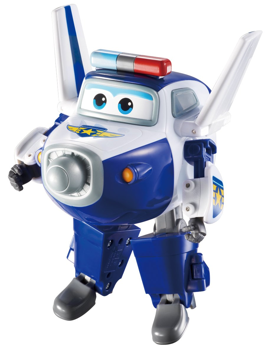 "Super Wings - Transforming Paul Toy Figure | Plane | Bot | 5"" Scale"