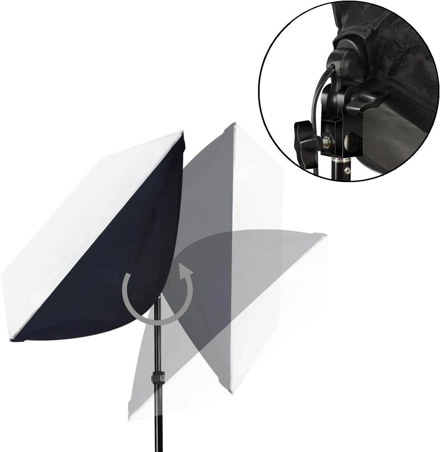 AGG2646 LimoStudio Photo Studio Lighting Kit Boom Arm Stand Set with Carry Bag Softbox Video Light