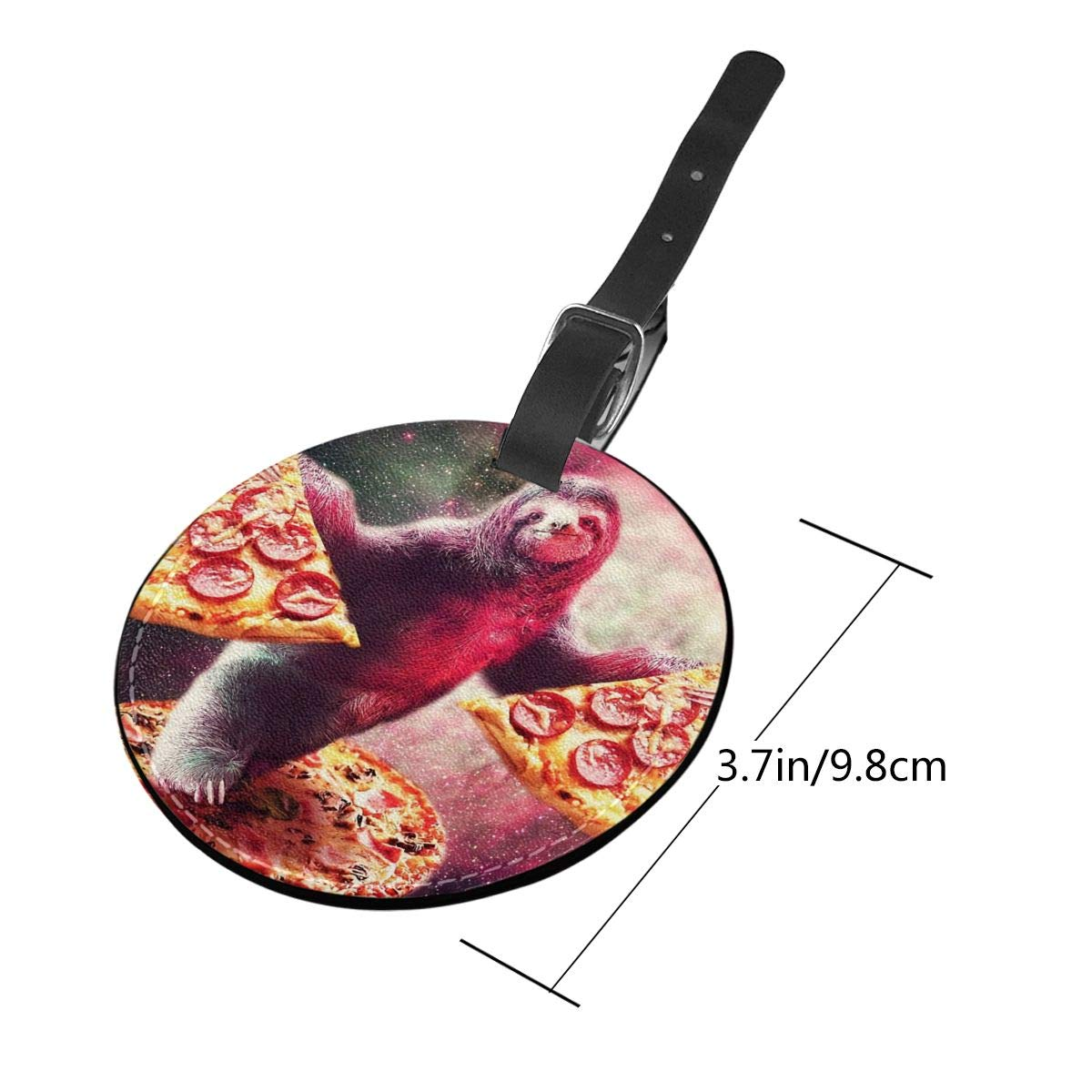 Sloth With Pizza Luggage Tags Suitcase Luggage Tags Travel Accessories Baggage Name Tags 2 PCS