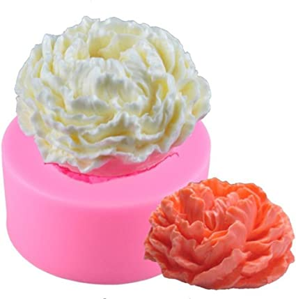 Cake Candle Decor DIY 3D Peony Flower Shape Fondant Mold Silicone Sugarcraft ;UK