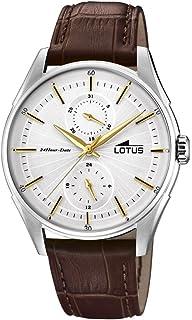 Lotus Watches Reloj Multiesfera para Hombre de Cuarzo con Correa en Cuero 18523/1