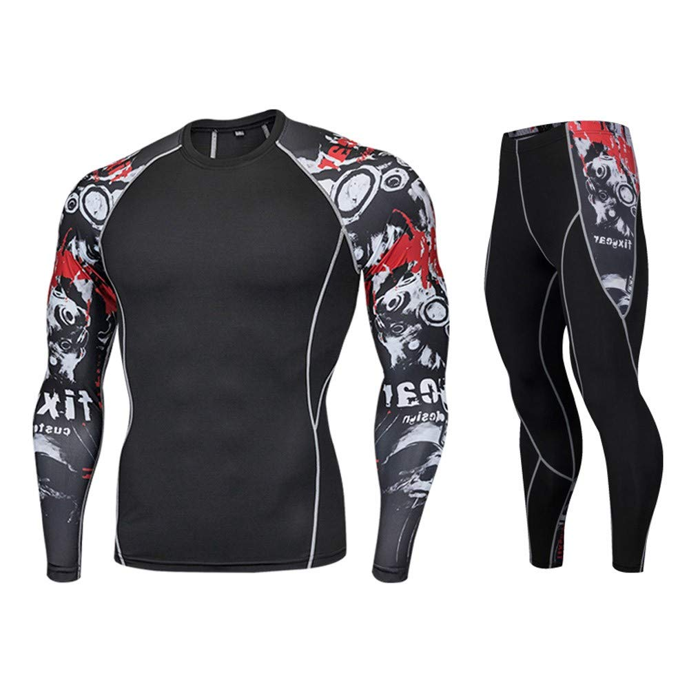 Dreamyth Man Workout Leggings Fitness Sports Gym Running Yoga Athletic Pants Shirt Suit Durable