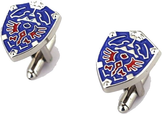 LeatherHill Leyendas de Zelda Triforce Logo Gemelos – Azul Gemelos para Hombres y # x25BA; Cyber Deal y # x25 C4, Azul, Talla única: Amazon.es: Ropa y accesorios