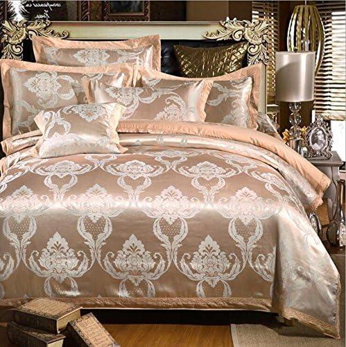 寝具布団カバー ヨーロッパ、新品、サテンジャカード、寝具、4セット、ベッドサイズ2.0Mに適して キルト掛け布団寝具セット