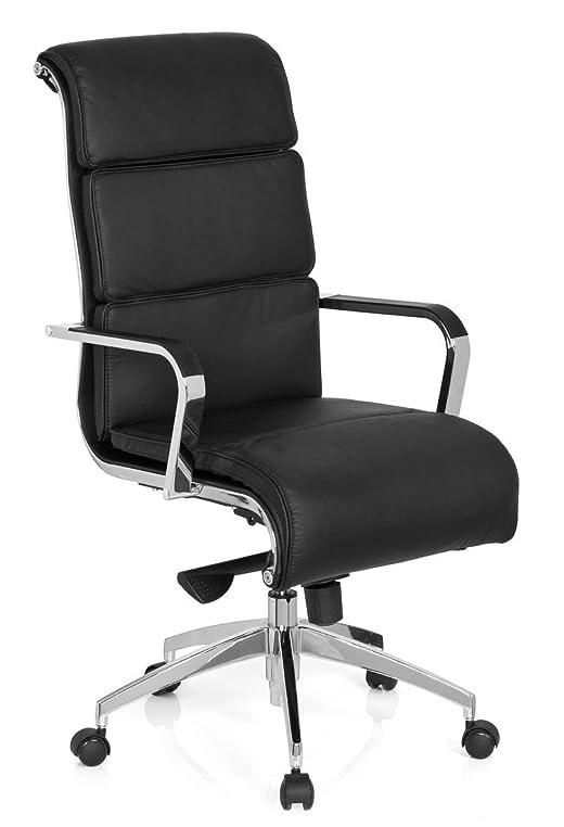 Designer chefsessel leder  hjh OFFICE 660937 Bürostuhl Chefsessel GALESA Leder grau schwarz ...