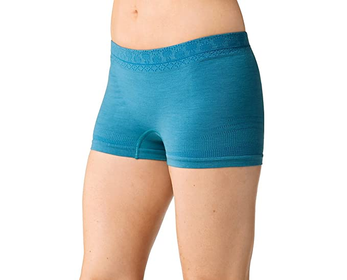 44d8f8c2b480 Amazon.com: SmartWool Women's PhD Seamless Boy Short (Glacial Blue ...