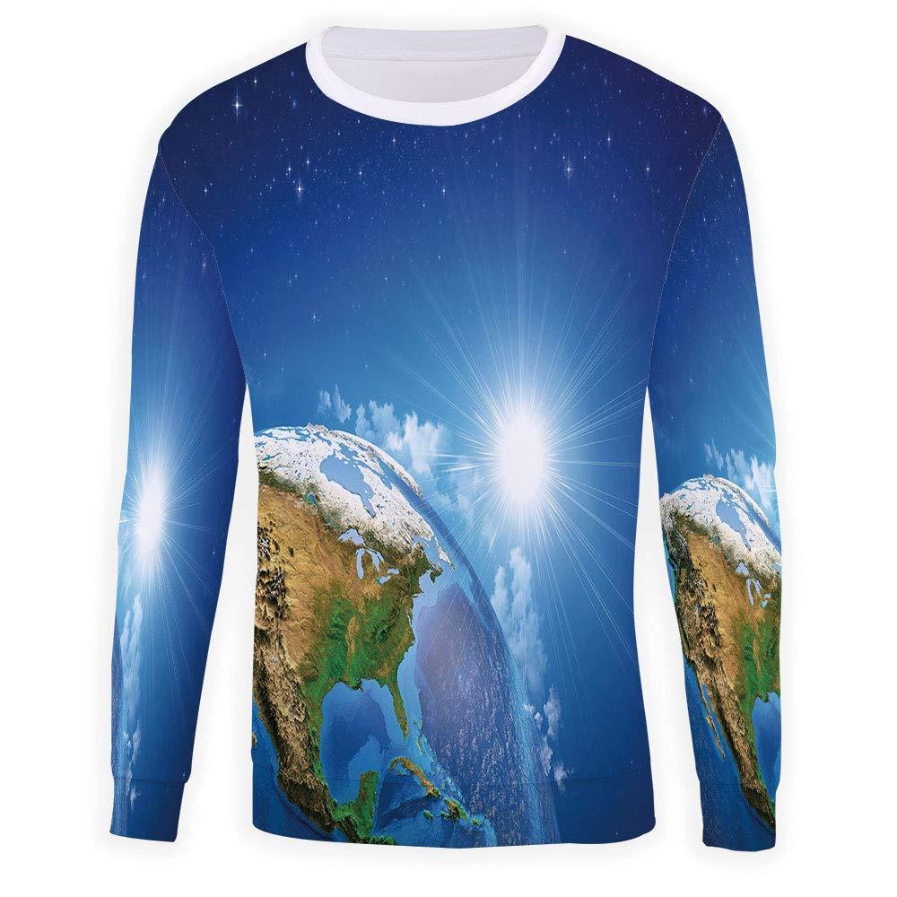 Mens Earth Crewneck Sweatshirt-Unisex