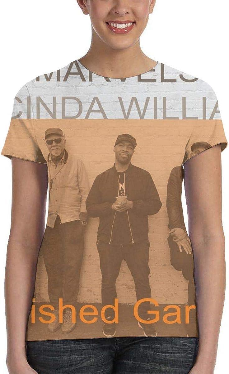 Yuliang Charles Lloyd /& The Marvels /& Lucinda Williams Vanished Gardens Womans 3D Printed T-Shirt Black
