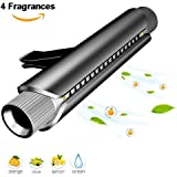 COCOCITY Deodorante auto, Diffusore di profumo per auto aromaterapia Presa d'aria, Purificatore di olio di semi di purificatore d'aria con 4 ricariche inclusi, regalo ideale