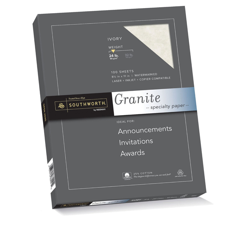 amazon com southworth granite specialty paper ivory 24 lb 100