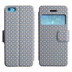 LEOCASE patrón increíble Funda Carcasa Cuero Tapa Case Para Apple iPhone 5C No.1004264