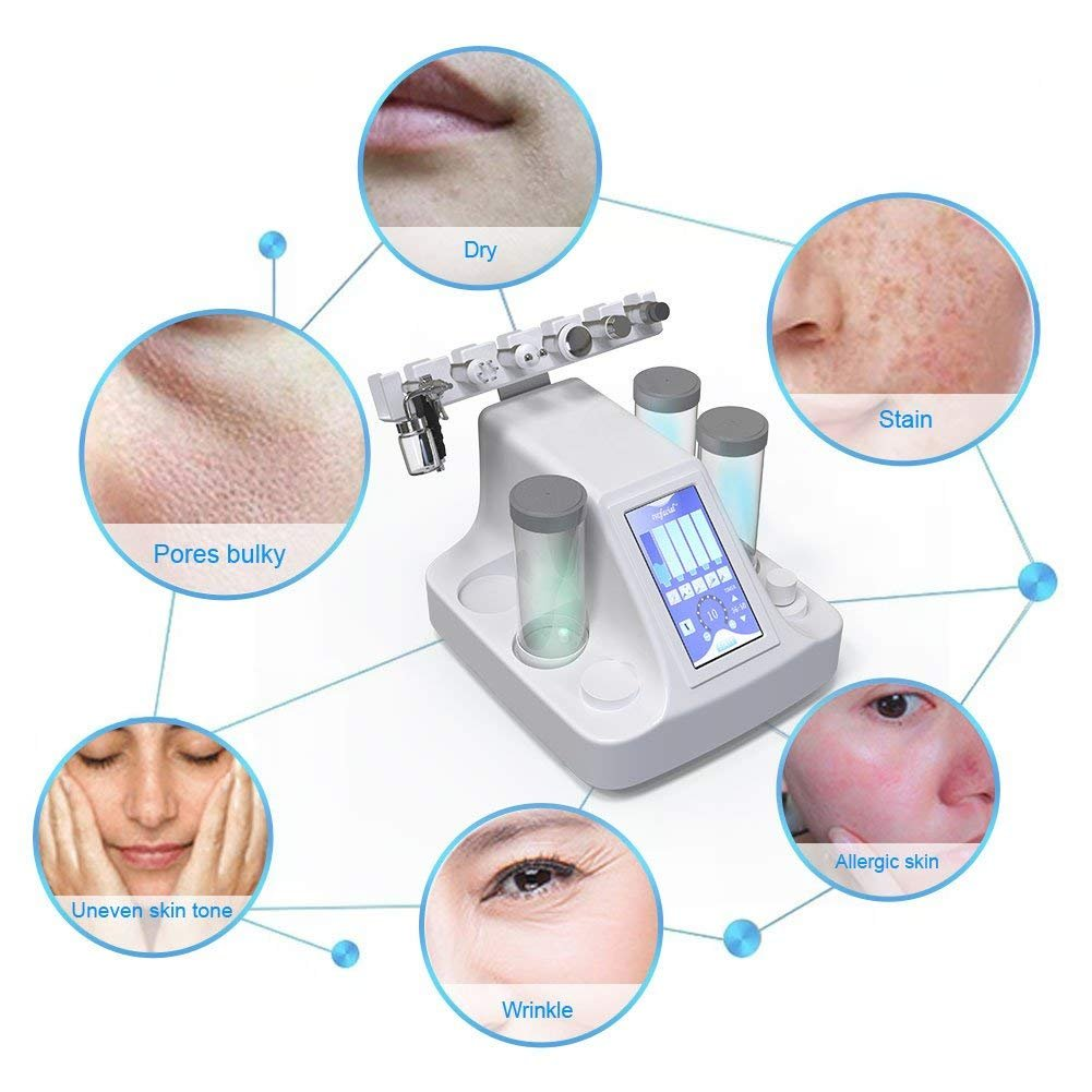 6 in 1 Vacuum Suction Blackhead Acne Removal Water Hydro-dermabrasion Facial Sprayer Moisturing Rejuvenation Skin Machine by Semme (Image #4)