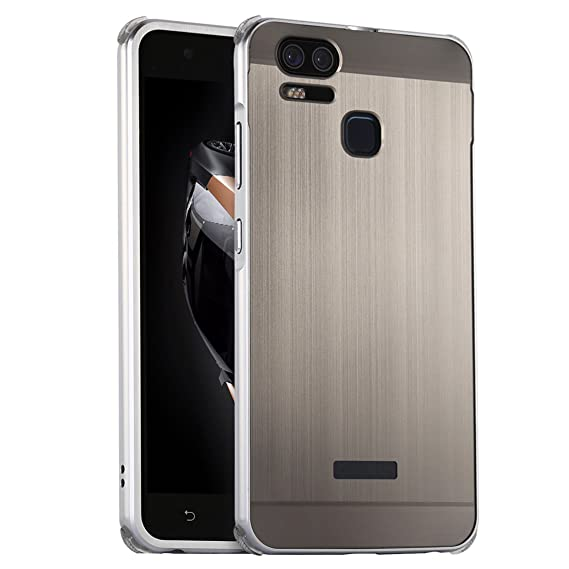 sports shoes 61435 27b51 ZenFone 3 Zoom Case, Ranyi [Brushed Metal Series] Luxury Aluminum Metal  Bumper Detachable + Smooth Brushed Hard Back Cover [Slim & Thin] 2 in 1  Case ...