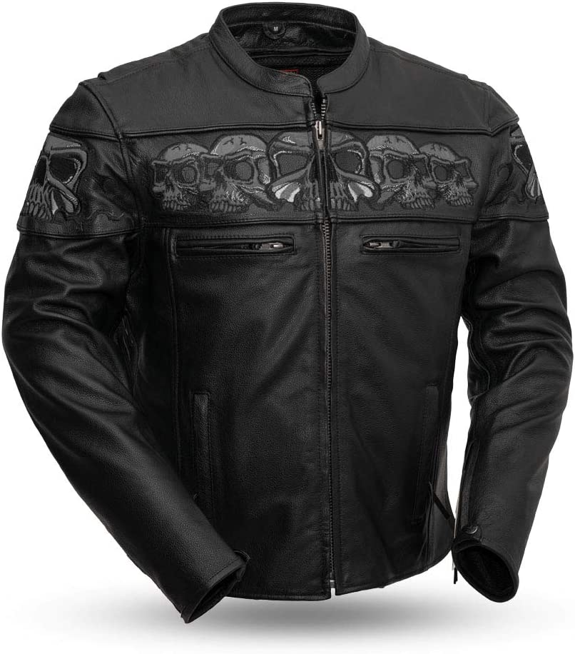 First Manufacturing Mens Vented Jacket with Side Stretch Black, XX-Large