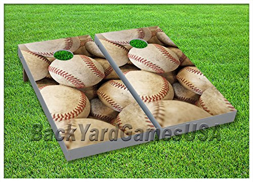 - VINYL WRAPS Cornhole Boards DECALS Baseball Fans Bag Toss Game Stickers 8