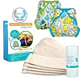 Tidy Tots Diaper Hassle Free 4 Diaper Snap Essential Set With Dinosaur and Elephant Covers