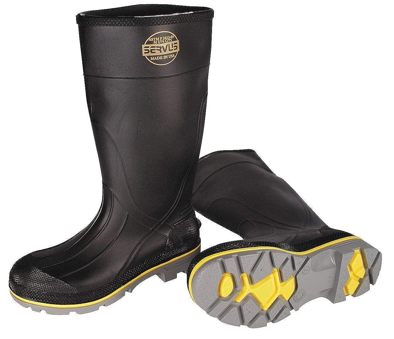 Size: 8 Steel Toe Type 15 Height 75109//8 PVC Upper Material Servus Mens Knee Boots