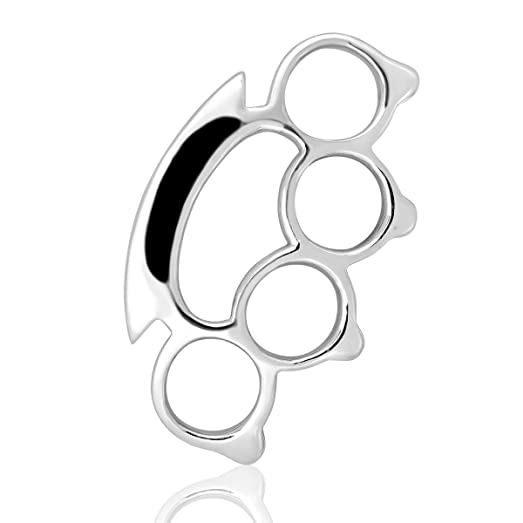 Amazon withlovesilver sterling silver 925 charm fight brass withlovesilver sterling silver 925 charm fight brass knuckle duster pendant mozeypictures Choice Image