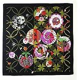 FUROSHIKI- Japanese Traditional Wrapping Cloth (View of the seasons: Black)