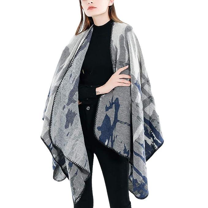 BHYDRY Moda Mujer Manta de Camuflaje patrón Abrigo Abrigo Abrigo Acogedor: Amazon.es: Ropa y accesorios