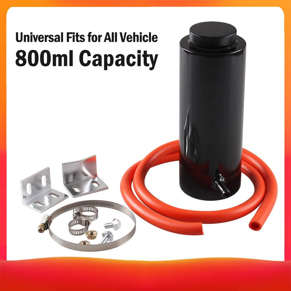 Tickas /Überlauf Puke Tank,800 Ml Universal K/ühler K/ühlmittel Aluminium Auffangbeh/älter /Überlaufbeh/älter Auto Styling K/ühler