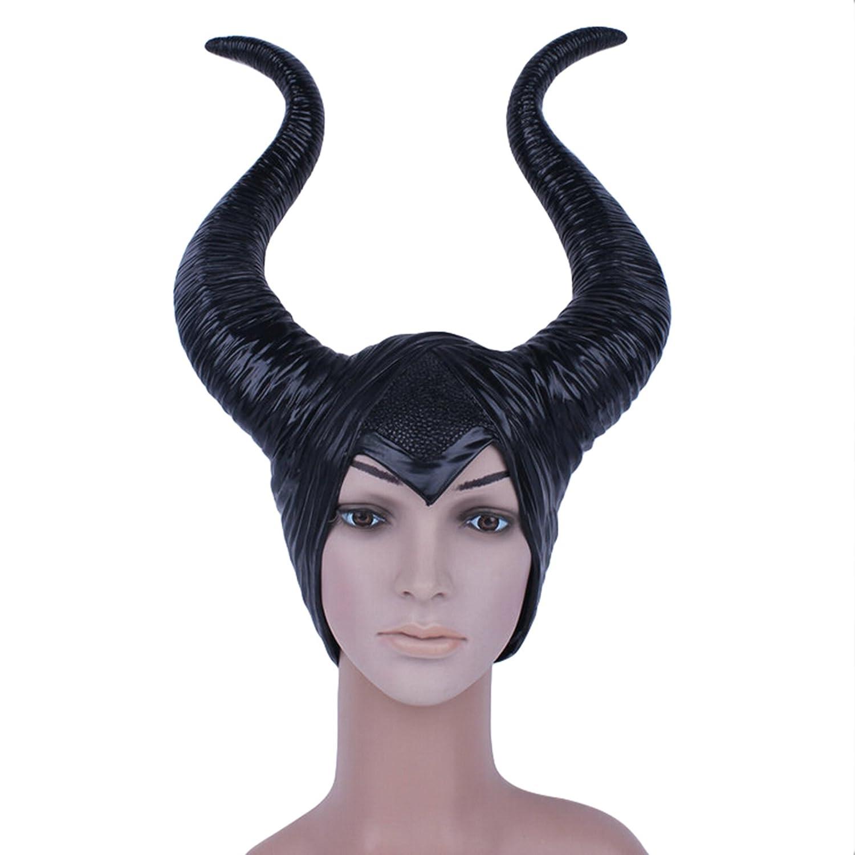 Genuino Antimitótico Cuernos Mujeres Adultas Fiesta de Halloween Traje Cosplay Casco Sombrero Louper: Amazon.es: Hogar
